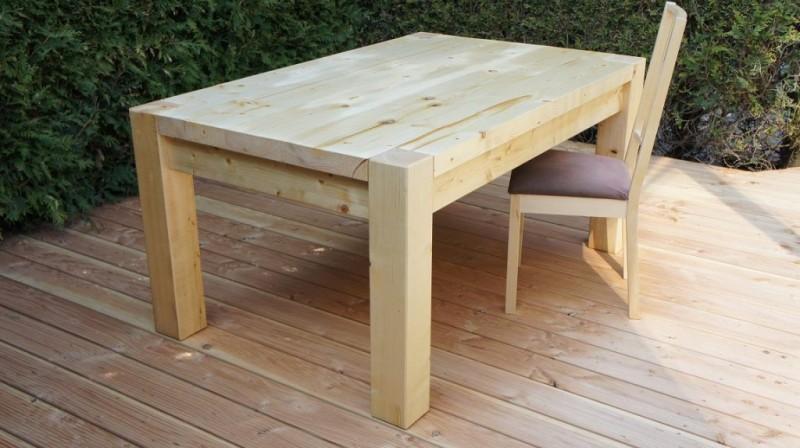 Gartentisch holz massiv  Gartentisch Rund Holz Selber Bauen | ambiznes.com